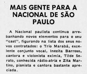 1952 Inezita na Nacional 1