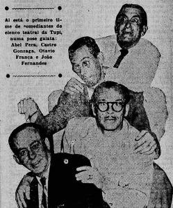De baixo para cima: João Fernandes, Otávio França, Castro Gonzaga e Abel Pera