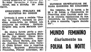 Anúncio na Folha da Manhã de 02/10/49 falando da Cia. Italiana de Revistas