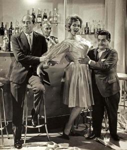 """Zeloni com Lilian Fernandes e Zé Trindade em """"Marido de Mulher Boa"""" 1960"""