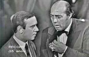 O cômico português Raul Solnado e Zeloni no Show do dia 7 de 1967