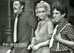 Zeloni, Renata Fronzi e Walter D'Ávila no Show do Dia 7 de 1968