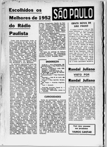 Revista do Rádio 1952