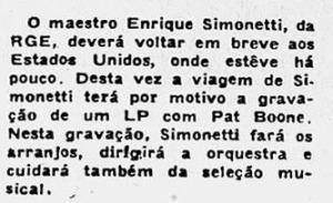 1958 Simonetti com Pat Boone