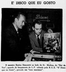 Primeiro LP de Simonetti pela RGE