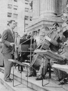 1958 Simonetti e sua orquestra escadaria do Teatro Municipal em São Paulo