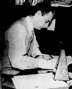 Simonetti criando um de seus arranjos - 1960