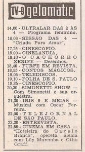 Revista 7 Dias na TV 1960