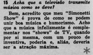 1963 Sobre Simonetti Show