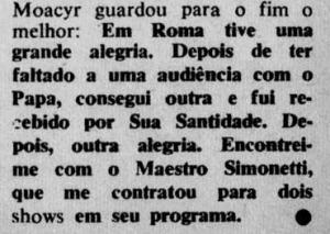 Depoimento de Moacyr Franco 1967