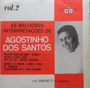 Capa do disco de Agostinho dos Santos produzido por Simonetti