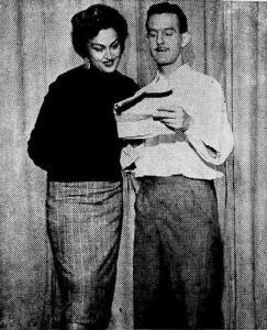 1954 - Durval de Souza e a apresentadora Rosa Maria