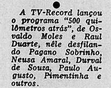 """1956 - Durval em """"550 Km atrás"""""""