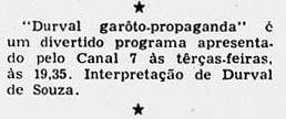 1956 Durval o garoto propaganda