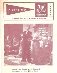1957 - Durval de Souza no comando do programa Big Show Peixe