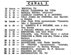 1958-01 Falcão Negro na programação