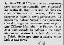 1958 Falcão Negro martinho atringido por espada
