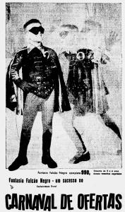 1959 Falcão Negro fantasia pro carnaval 2