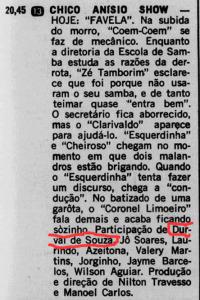 Durval de Souza no elenco de Chico Anysio Show