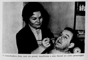 A maquiadora Ana e Durval de Souza