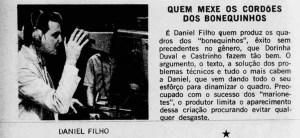 Daniel Filho - Diretor do quadro Os Bonecos