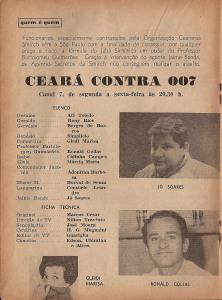 """Durval integrou o elenco de """"CEará Contra 007"""", a primeira novela humorística da tv"""