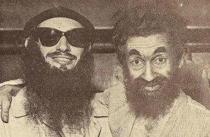 Glauco Ferreira [de barba falsa] e Moacyr Franco [o Mendigo do programam Rio, Te Adoro]
