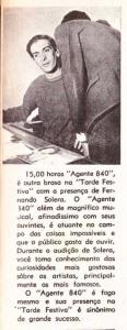 1967 - Fernando Solera é o Agente 840