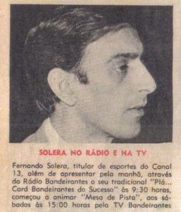 Fernando Solera - Sucesso no rádio e na tv