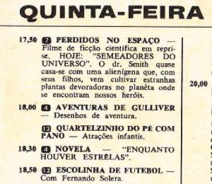 1969 - Solera apresenta Escolinha de Futebol